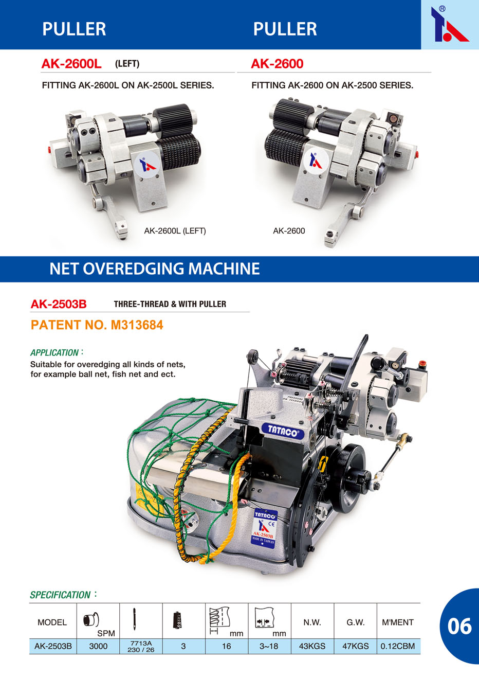 Puller / Net Overedging Machine